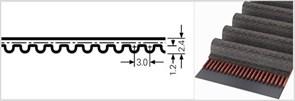 Зубчатый приводной ремень  НТD 615 3М (Ширина ремня: 18 мм,)