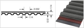 Зубчатый приводной ремень  44,0 МХL, L=111,8 mm