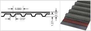 Зубчатый приводной ремень  286 ХL, L=726,4 mm