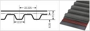 Зубчатый приводной ремень  507 ХН, L=1287,8 mm (Ширина ремня: 35 мм,)