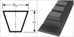 Ремень приводной клиновой  BХ 52,5 Li=1334mm, Ld=1379mm