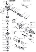 Выключатель DKP4-11 4(4)250V~5E4 болгарки Зубр ЗУШМ-125-800 (рис.44)