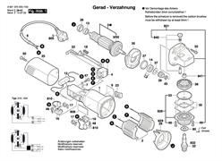 Шарикоподшипники болгарки Bosch GWS 660 (рис.14)