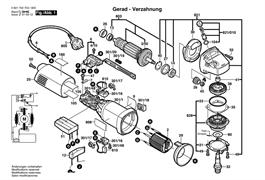 ВинтDIN 85-AM3x6-CUZN болгарки GWS 1000 (рис.43012)