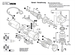 КОРПУС МОТОРА болгарки Bosch GWS 660 (рис.1)