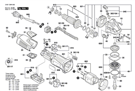 Ротор с вентилятором230V болгарки Bosch GWS 19-150 CI (рис.803)