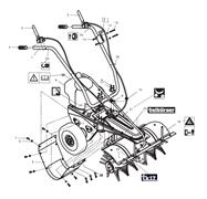 Трос с рычагом включения щетки подметальной машины Tielbuerger TK17 (рис.2)