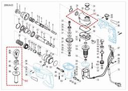 Шестерня ствола перфоратора Зубр ЗП-805-ЭК (рис.21)