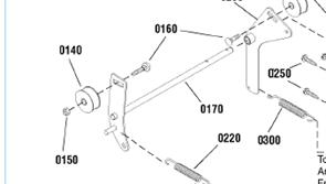 Ролик натяжения ремня шнека снегоуборщика wolf garten cm741350h (1695698) (рис.140)