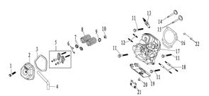Прокладка крышки головки цилиндра генератора FUBAG BS 7500 №3
