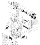 Статор в сборе генератора FUBAG DS 11000 A ES DS №4