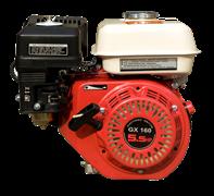 Двигатель GX 160  вал с резьбой для мотопоп