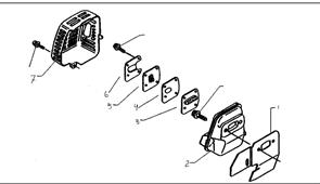 Корпус глушителя триммера Husqvarna 122L (рис 7)