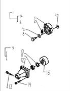 Корпус муфты сцепления триммера Husqvarna 122L (рис 12)