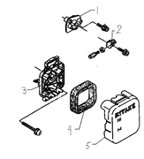 Проставка воздушного фильтра триммера Husqvarna 122L (рис 1)