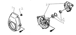 Крышка картера триммера Husqvarna 122L (рис 1)