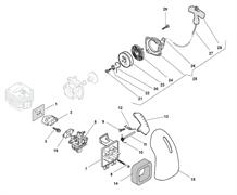 Впускной коллектор триммера Alpina 534D (рис 2)