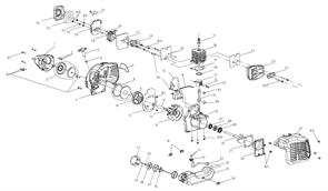 Корпус коленвала триммера Baumaster BT-8925X (рис 25)