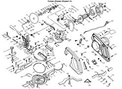 Корпус мотора с полуручкой пилы торцовочно - усовочной Корвет 2 (рис.115)