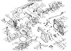 Крышка щеткодержателя пилы торцовочно - усовочной Корвет 2 (рис.113)