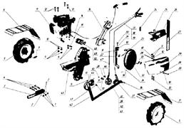 Тяга мотоблока Кадви МБ-1Д1М (рис.19)