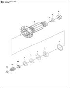 CIRCLIP электрического резчика Husqvarna POWER CUTTERS K 4000, (2018-03) (9670798-01) (рис.5)