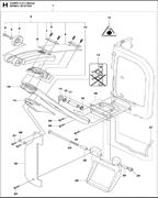 LOCK NUT электрического резчика Husqvarna Construction K4000 CnB 9670797-01 (2018-02) (рис.28)