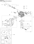 PISTON RING спасательного бензореза Husqvarna POWER CUTTERS K 770, 2017-11 (9678091-01) (рис.14)