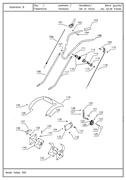 Трос хода вперед (правый) культиватора TEXAS Hobby 370 TG (рис.106)