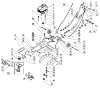 Трос газа в сборе культиватора TEXAS Hobby 500 B (рис.56)