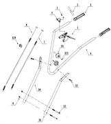 Трос сцепления культиватора TEXAS TX501 TG (рис. 7)