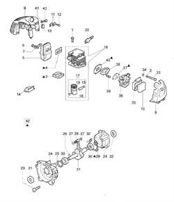 Пошипник пальца поршня триммера Efco 8250 ERGO (рис. 28) - фото 10061