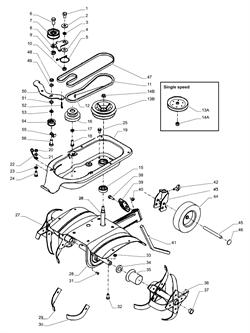 Ролик культиватора Stiga SILEX 40R-G (рис.7)