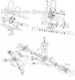 Ремень клиновой виброплиты Зубр ЗВПБ-15А (рис.26) - фото 103012