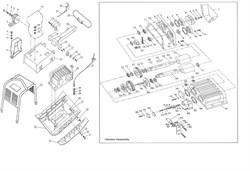 Корпус виброэлемента виброплиты Зубр ЗВПБ-38 ГРХ (рис.37) - фото 103305