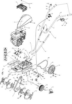 Направляющая приводного ремня культиватора Pubert MB 87 L (рис.26)
