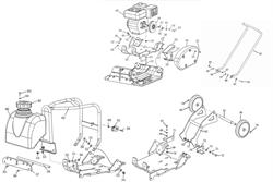 Рукоятка плиты виброплиты Champion PC1150FT (рис.17) - фото 103367