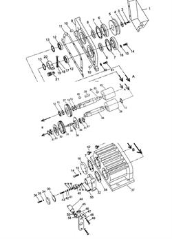 Кольцо стопорное виброплиты Champion PC1645RH (рис.57) - фото 103538