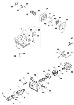 Амортизатор триммера Efco Stark 40 (рис. 4) - фото 10381