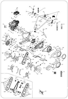 Успокоитель цепи редуктора культиватора Masteryard MT 70R TWK+ (рис.208) - фото 10518