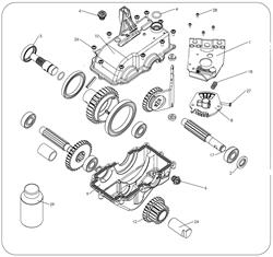 Сальник коробки передач культиватора Masteryard MT 70R TWK+ (рис.2)