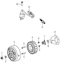 Болт M5x15 генератора Зубр ЗИГ-2000 №6 - фото 105525