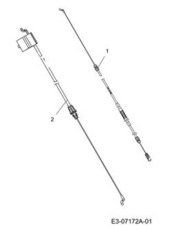 Тросик  газонокосилки MTD 46 SPB (рис.2) - фото 10695
