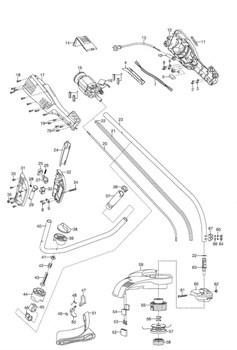 Корпус головки триммера Gardena ProCut 1000 (рис. 55)
