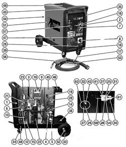 Вентилятор сварочного полуавтомата Telwin Telmig 250/2 Turbo (рис.19) - фото 10883
