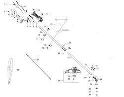 Верхняя штанга триммера McCulloch B28 PS (рис. 15)