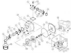 Корпус насоса мотопомпы Caiman JET80EX (рис.1)