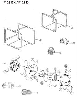 Крыльчатка мотопомпы Caiman P52EX / P52D (рис.15)