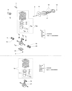 Коленвал бензопилы EFCO 140 (рис.10) - фото 11991