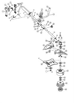 Верхняя штанга в сборе триммера MTD 790 (рис. 10)